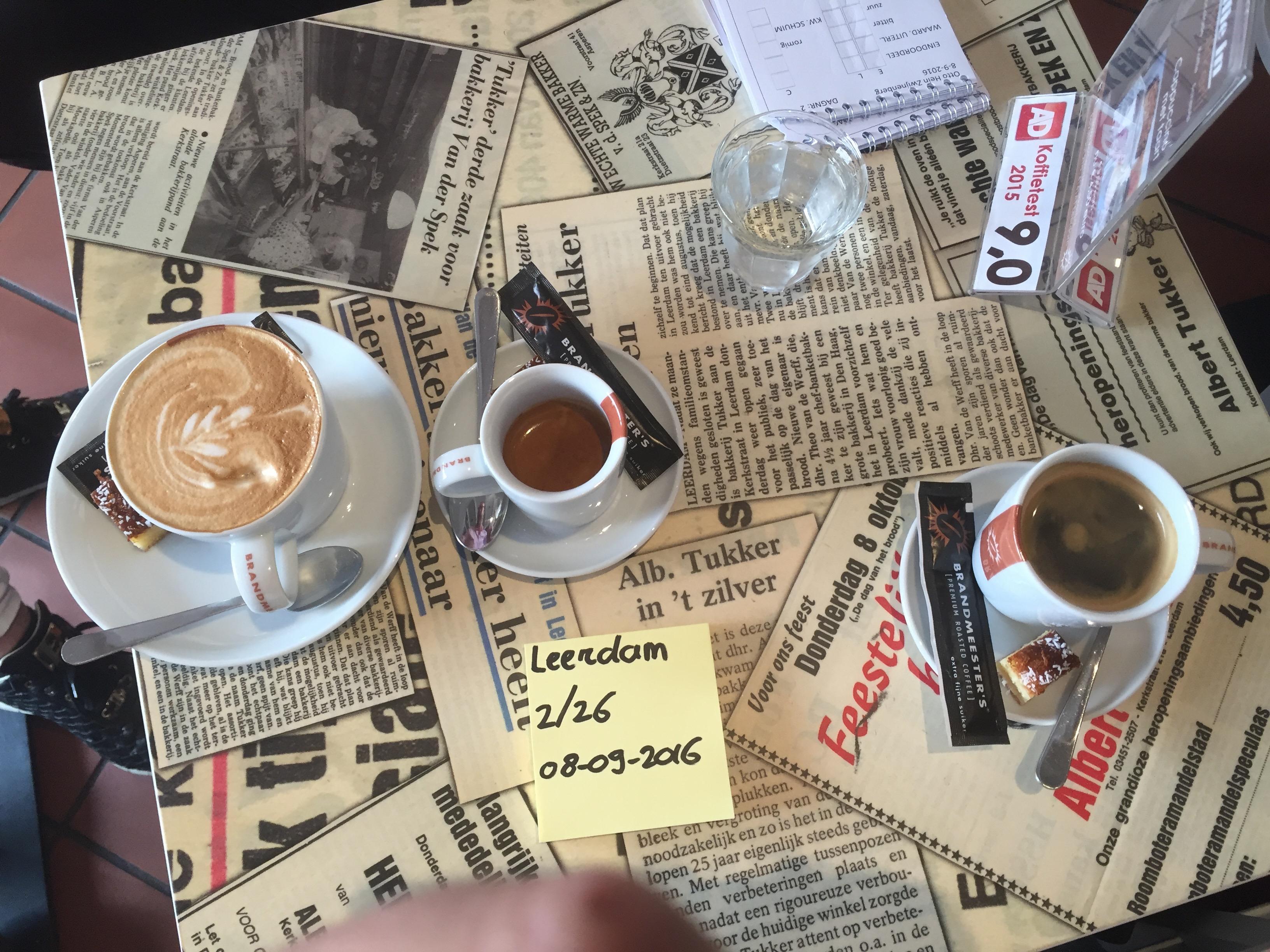 Koffie in de bakkerij
