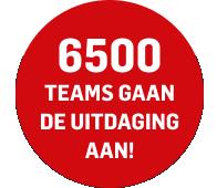 6500 teams gaan de uitdaging aan!